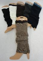 Knitted Leg Warmers [Two-Tone Loose Knit]